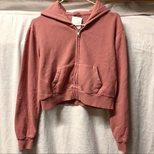 NWT Mauve Pink Crystal Hoodie Sweater Pullover